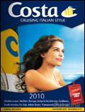 Costa Cruising Italian Style brochure cover from 23 February, 2009