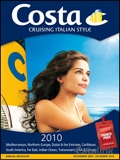 Costa Cruising Italian Style brochure cover from 23 August, 2010