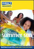 Direct Holidays catalogue cover from 17 April, 2008