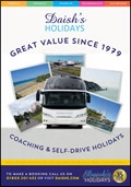 Daishs Coach UK Holidays brochure cover from 13 January, 2014