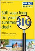 Direct Holidays catalogue cover from 21 May, 2008