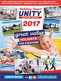 Holiday Resort Unity brochure cover from 13 February, 2017
