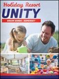 Holiday Resort Unity brochure cover from 26 April, 2018