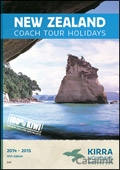 Kirra New Zealand Coach Tours brochure cover from 01 September, 2014