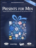 Presents for Men brochure cover from 02 November, 2011