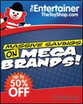 The Entertainer Toyshop catalogue cover from 22 August, 2014