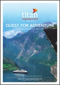 Titan Travel - Quest for Adventure catalogue cover from 19 January, 2012