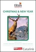 Titan Xmas & New Year brochure cover from 12 August, 2013
