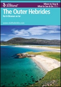 Explore Scotland: The Outer Hebrides Where to Stay & What to See & Do Guide brochure cover from 19 March, 2012
