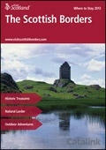 Explore Scotland: The Scottish Borders Where to Stay Guide brochure cover from 06 March, 2013