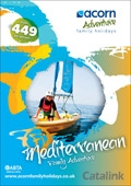 Acorn Adventure Family Holidays brochure cover from 16 February, 2015