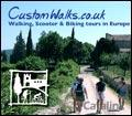 Cottages to Castles Custom Walks / ScooterBella brochure cover from 17 November, 2006