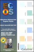 ECOS Organic Paints catalogue cover from 01 July, 2010
