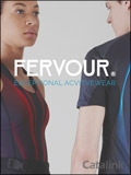 Fervour Activewear brochure cover from 18 July, 2017