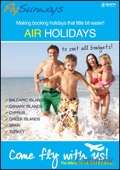Fly Search - Air Holidays brochure cover from 04 November, 2013