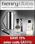Henry Tibbs - Luxury Mens Gifts brochure cover from 01 February, 2012