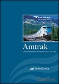 Amtrak USA Rail Tours brochure cover from 28 January, 2013