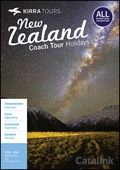 Kirra New Zealand Coach Tours brochure cover from 18 November, 2015