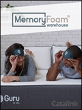 Beds & Mattresses by Memory Foam Warehouse catalogue cover from 21 September, 2018