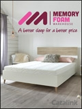 Beds & Mattresses by Memory Foam Warehouse catalogue cover from 20 September, 2019