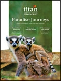 Titan Travel: Paradise Journeys brochure cover from 27 April, 2017