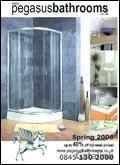 Pegasus Bathrooms catalogue cover from 31 March, 2006