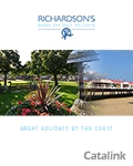 Richardsons Norfolk Holiday Village brochure cover from 27 July, 2016