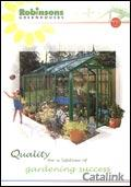 Robinsons Aluminium Greenhouses brochure cover from 13 May, 2005