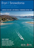 Snowdonia Mountains and Coast brochure cover from 11 January, 2016