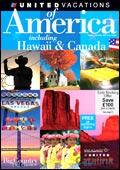 United Vacations - America, Hawaii & Canada brochure cover from 16 October, 2006