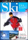 United Vacations - Ski USA & Canada catalogue cover from 16 October, 2006